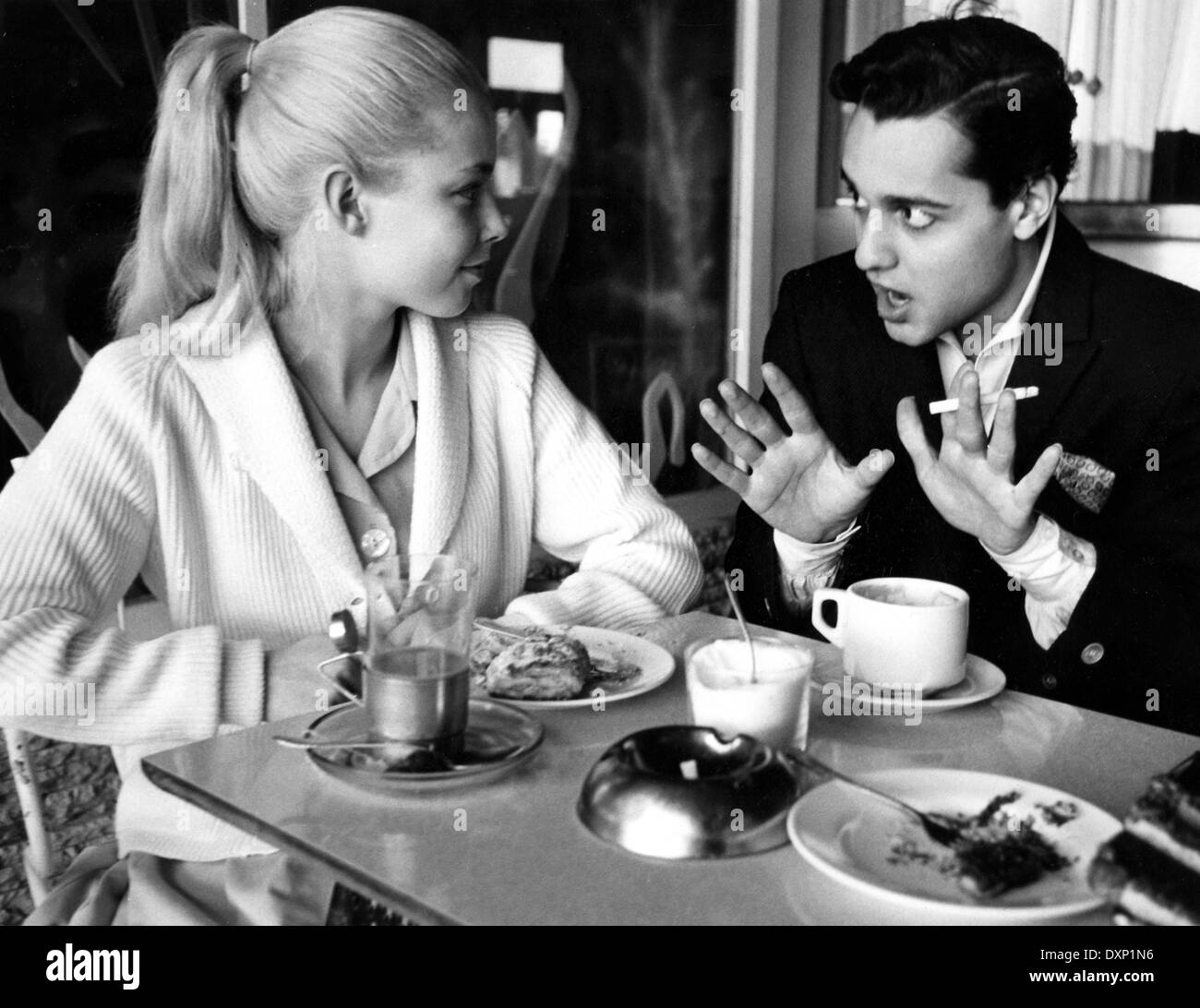 jill haworth and sal mineo during the making of exodus