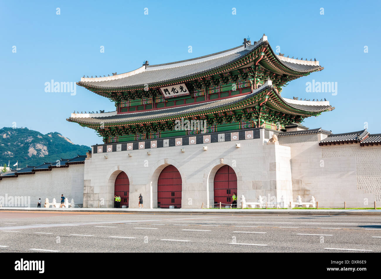 Traditional Korean Architecture At Gyeongbokgung Palace In Seoul South Korea