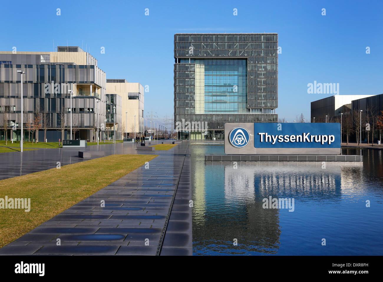 Essen, Germany, ThyssenKrupp headquarters Stock Photo ...