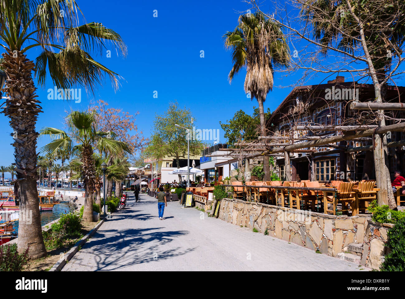 Cafe in the vieux port terra vecchia bastia corsica france stock - Cafes Bars And Restaurants Along The Harbourfront In The Old Town Side Antalya
