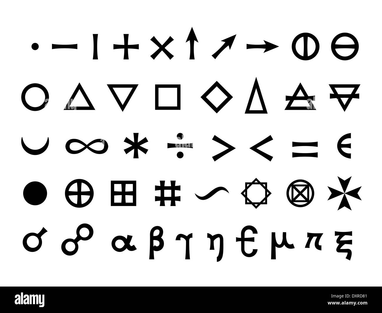 Basic signs fundamental elements and mathematical symbols basic signs fundamental elements and mathematical symbols mystique symbols set biocorpaavc Image collections