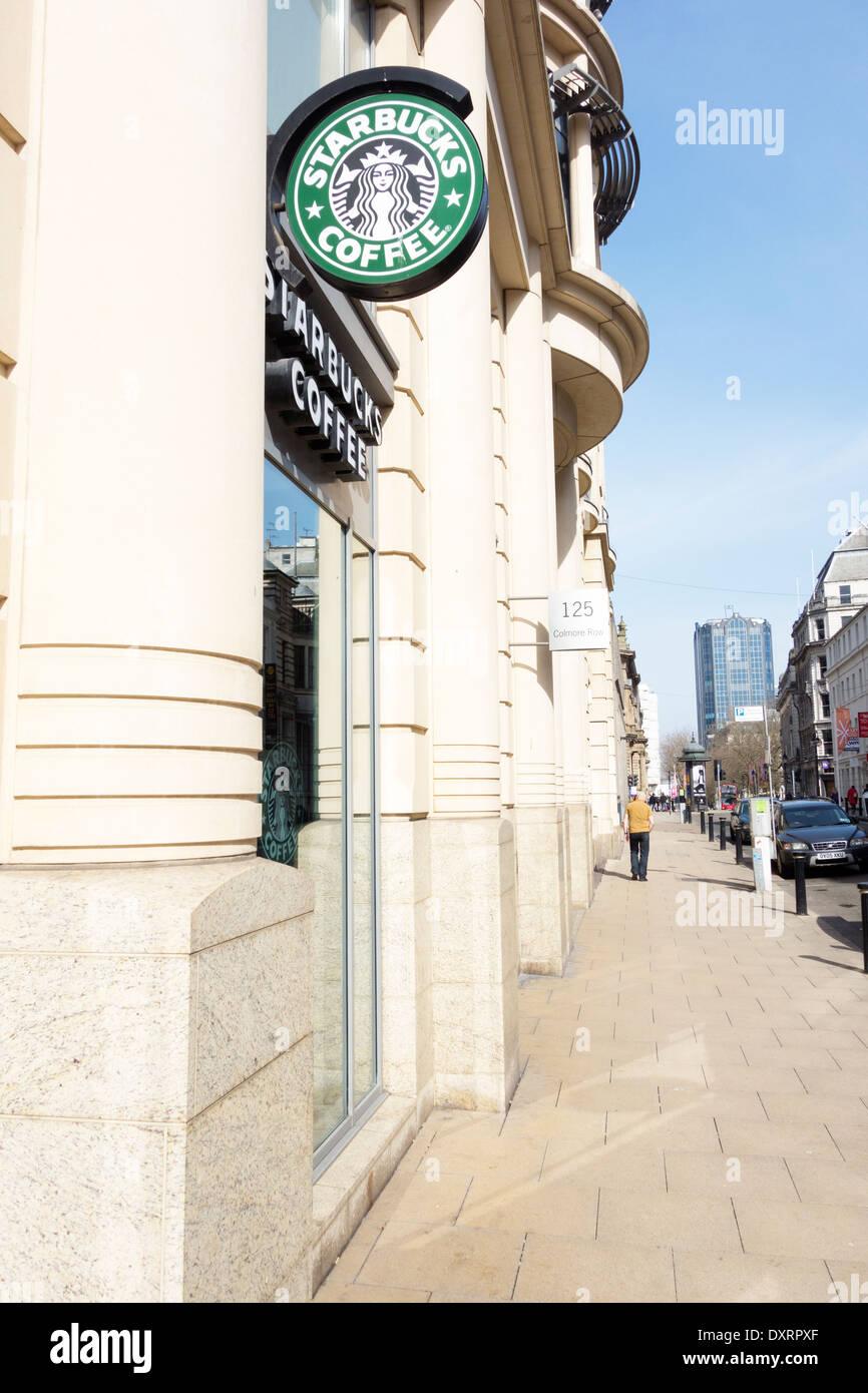 Starbucks coffee shop in central Birmingham UK