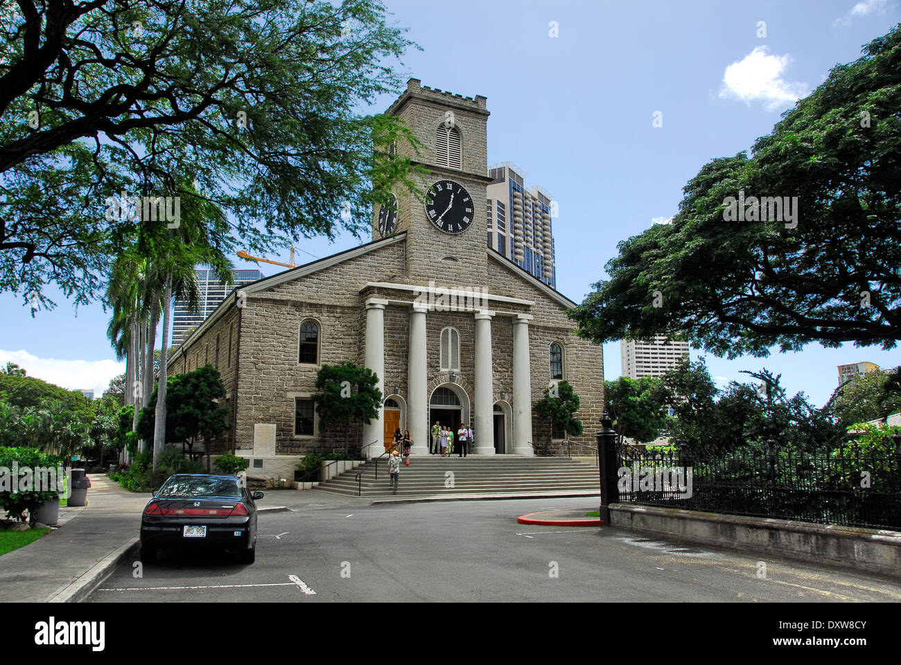 The Kawaiahao Church - The Stone Church in Honolulu, island of Oahu, in the