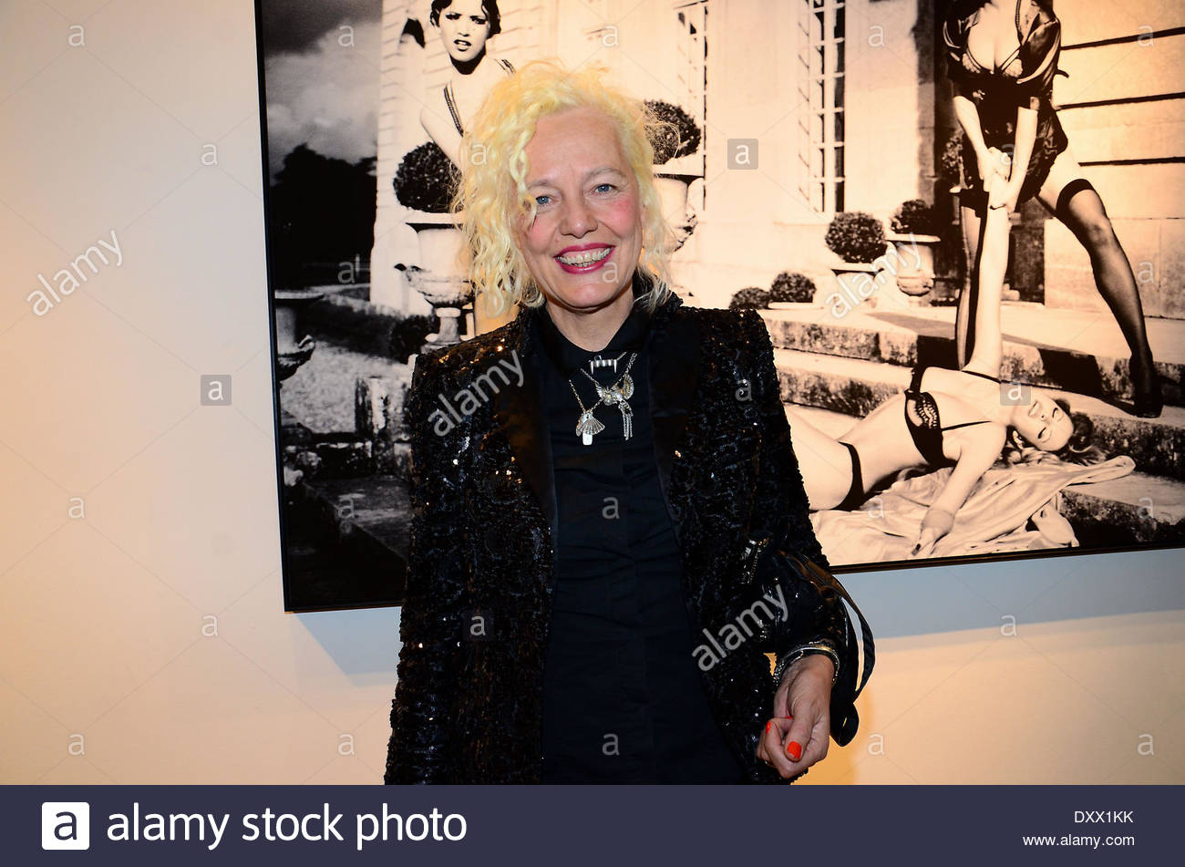 ellen von unwerth at the vernissage 39 the story of olga 39 at camera stock photo royalty free. Black Bedroom Furniture Sets. Home Design Ideas