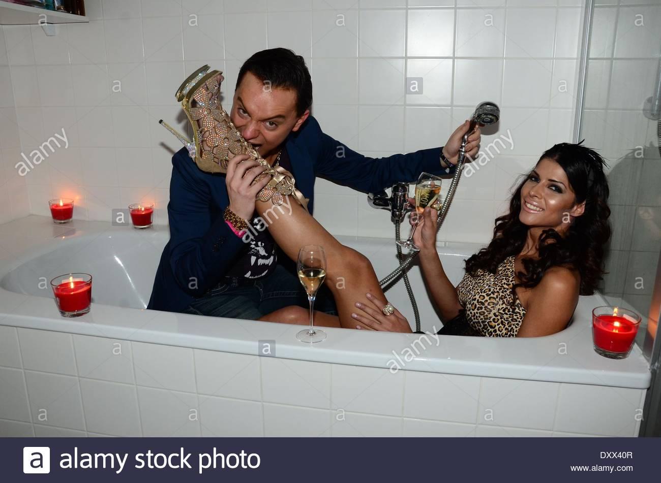 Micaela Schaefer and Julian Stoeckel in the bath tub at Star Press ...