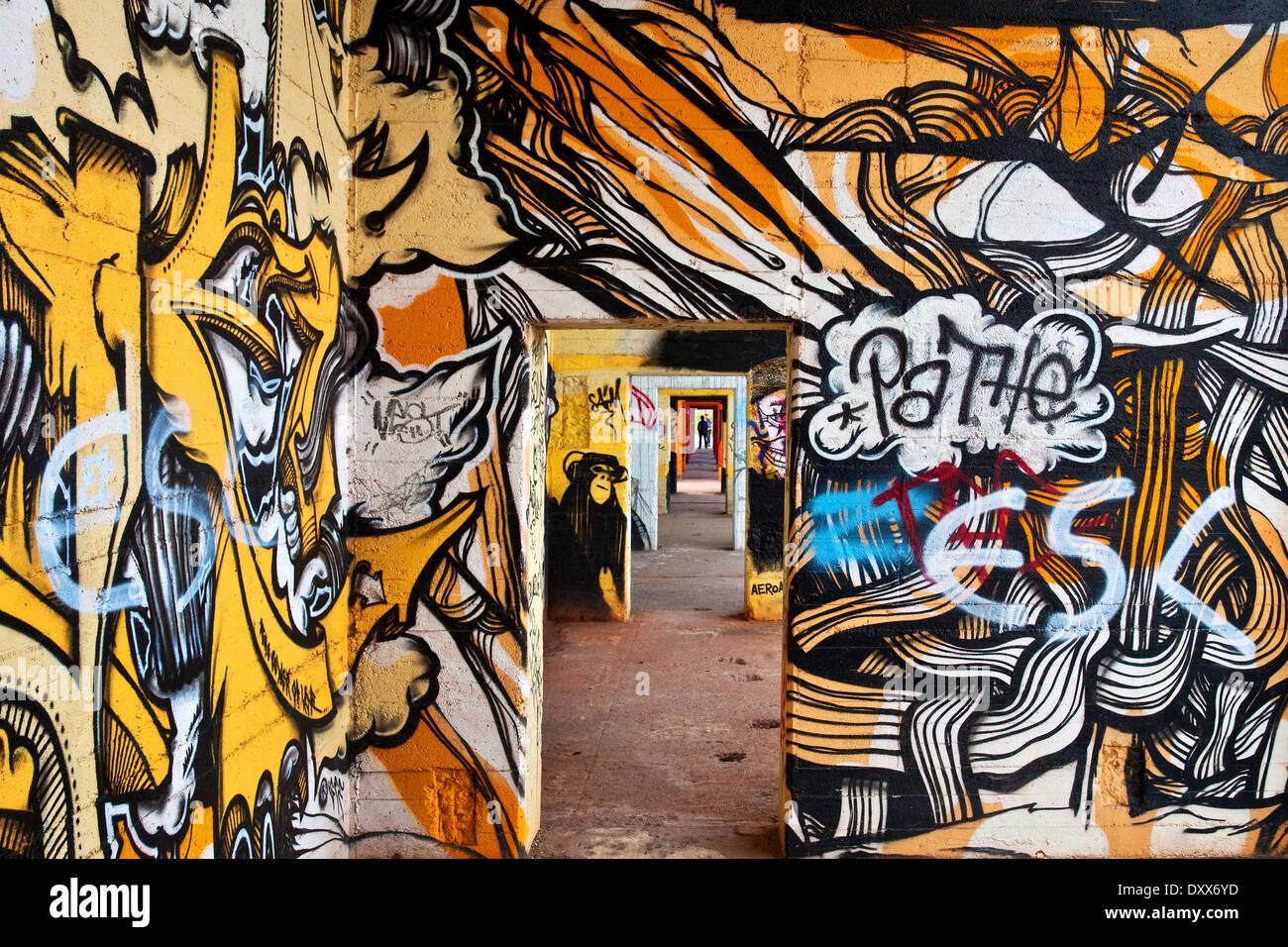 Graffiti Duisburg graffiti wall in the rhine park duisburg ruhr district