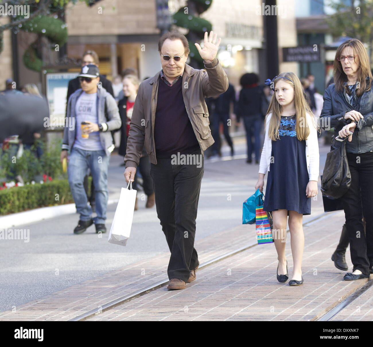 Billy Crystal seen with his wife Janice Crystal and ...