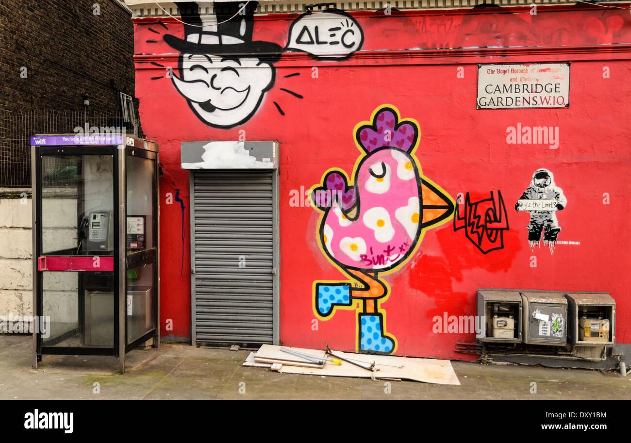 Graffiti wall cambridge - Graffiti On A Wall In Cambridge Gardens W10 London