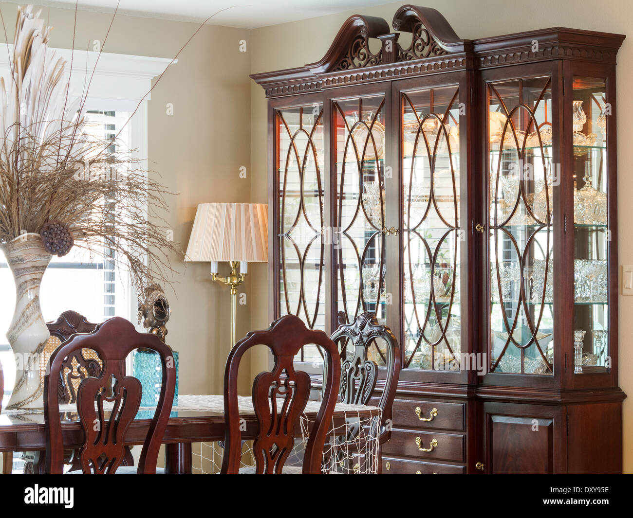 Showcase Dining Room Interior, USA Stock Photo, Royalty Free Image ...