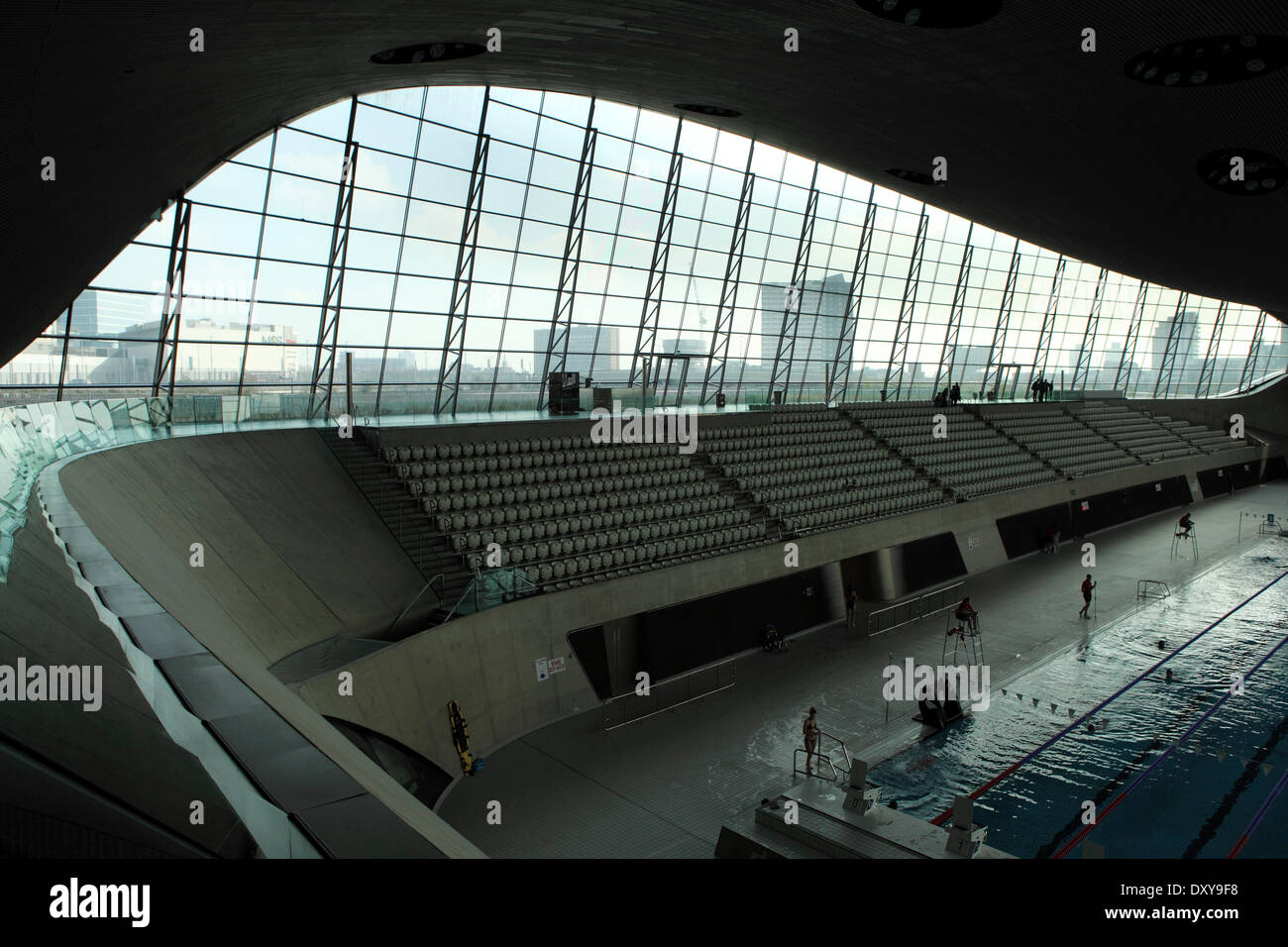 The Aquatics Centre In The Queen Elizabeth Olympic Park In London Stock Photo Royalty Free