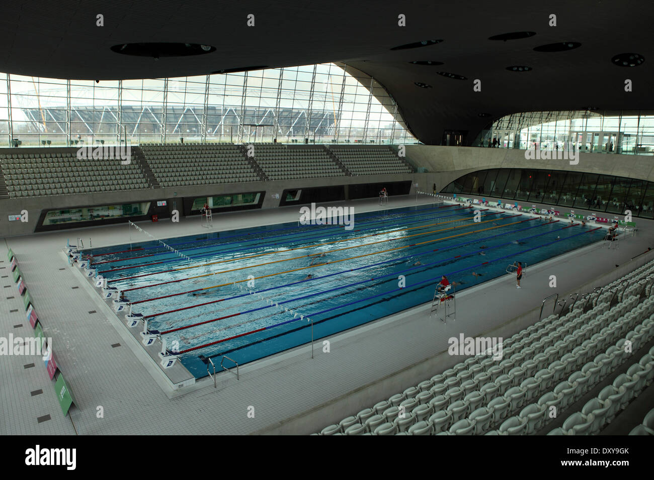 swimming pool at the aquatics centre in the queen elizabeth olympic park in london united - Olympic Swimming Pool 2014