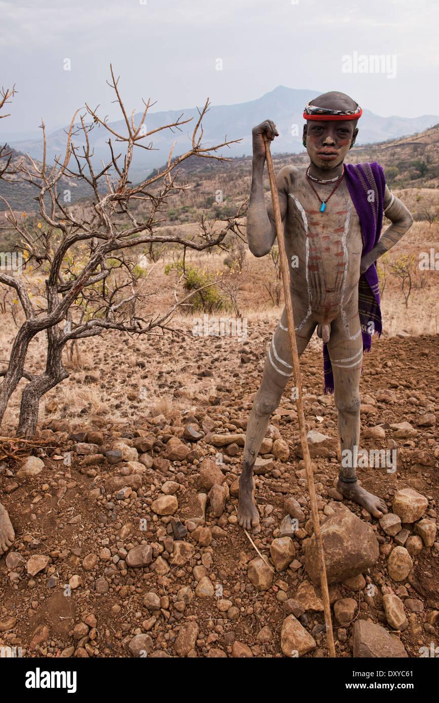 mursi Boy Mursi boy in the Lower Omo Valley of Ethiopia