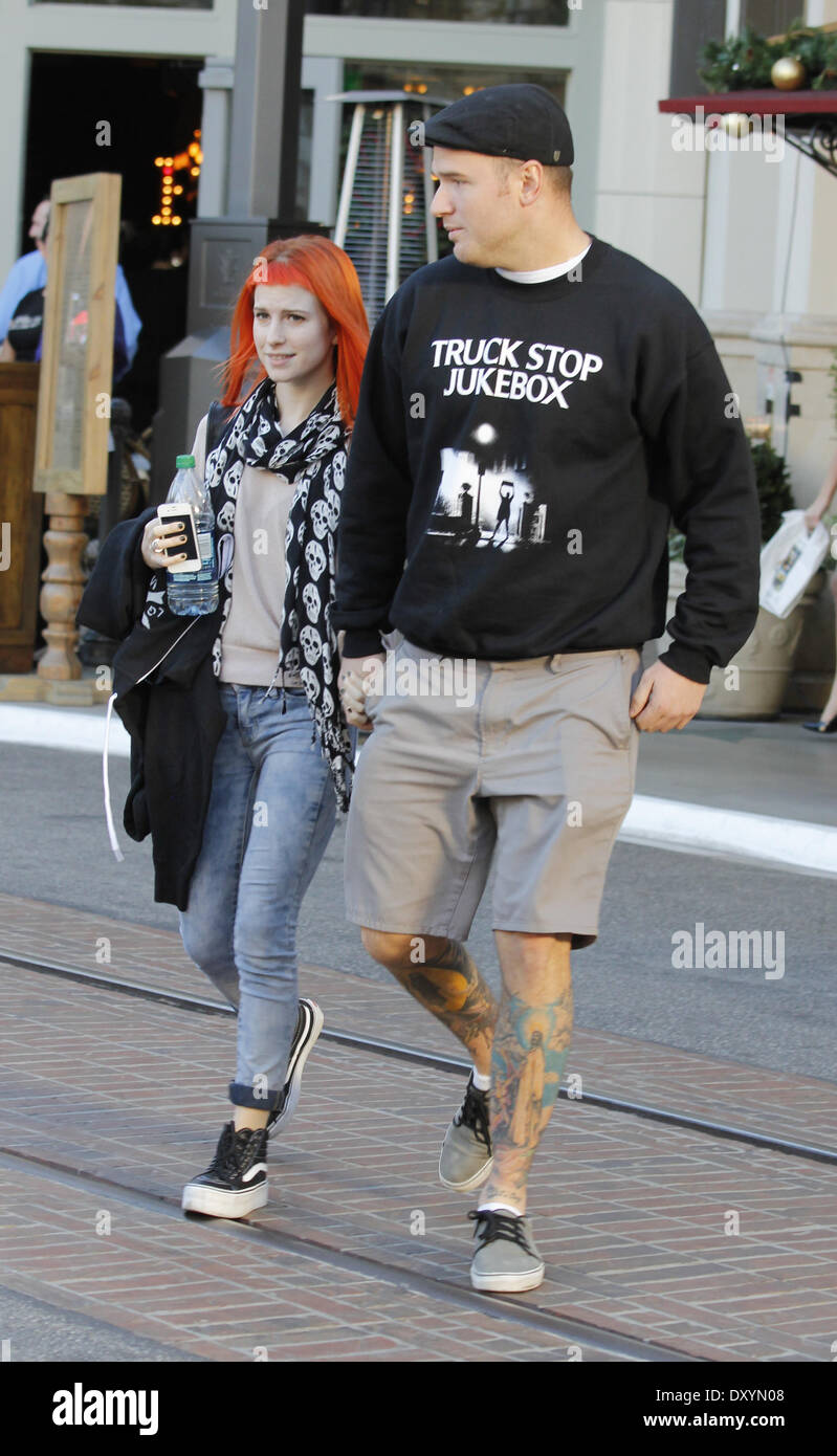 Hayley Williams from Paramore out and about at The Grove ...