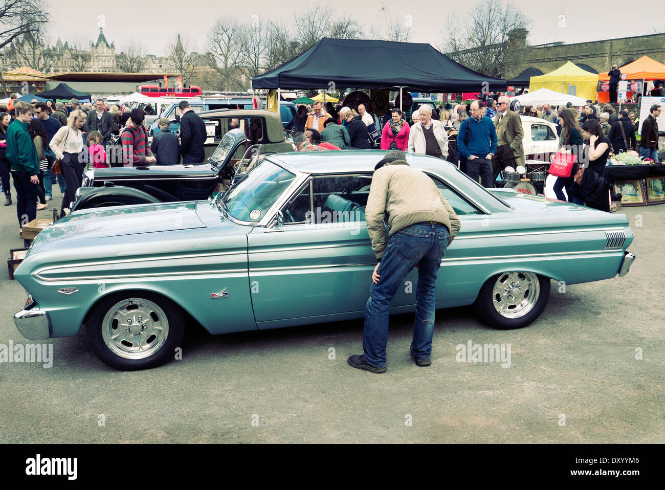 Ford Falcon at the Classic car boot sale London south Bank london ...