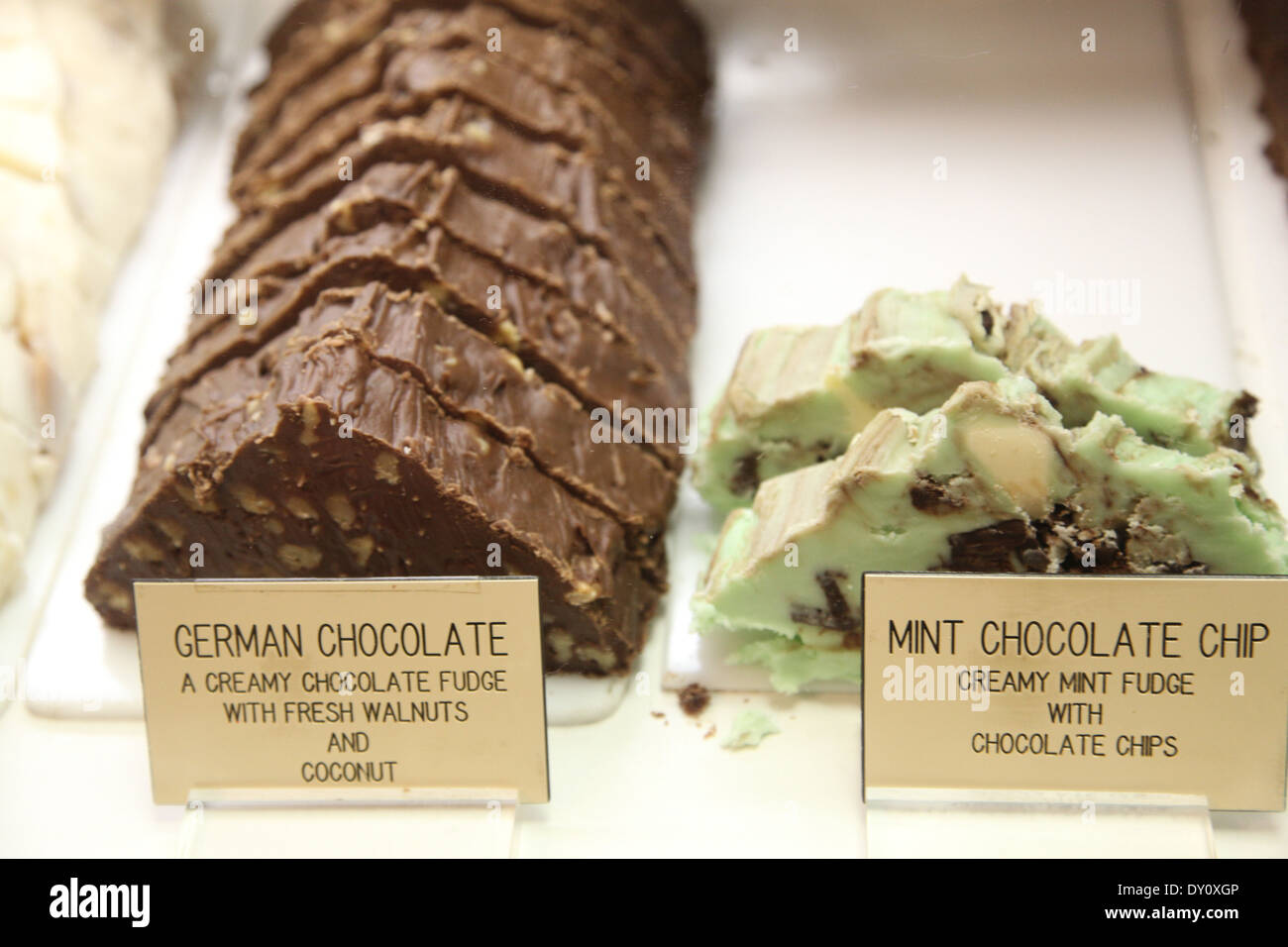 Chocolates, candy and fudge from Kilwins Stock Photo, Royalty Free ...