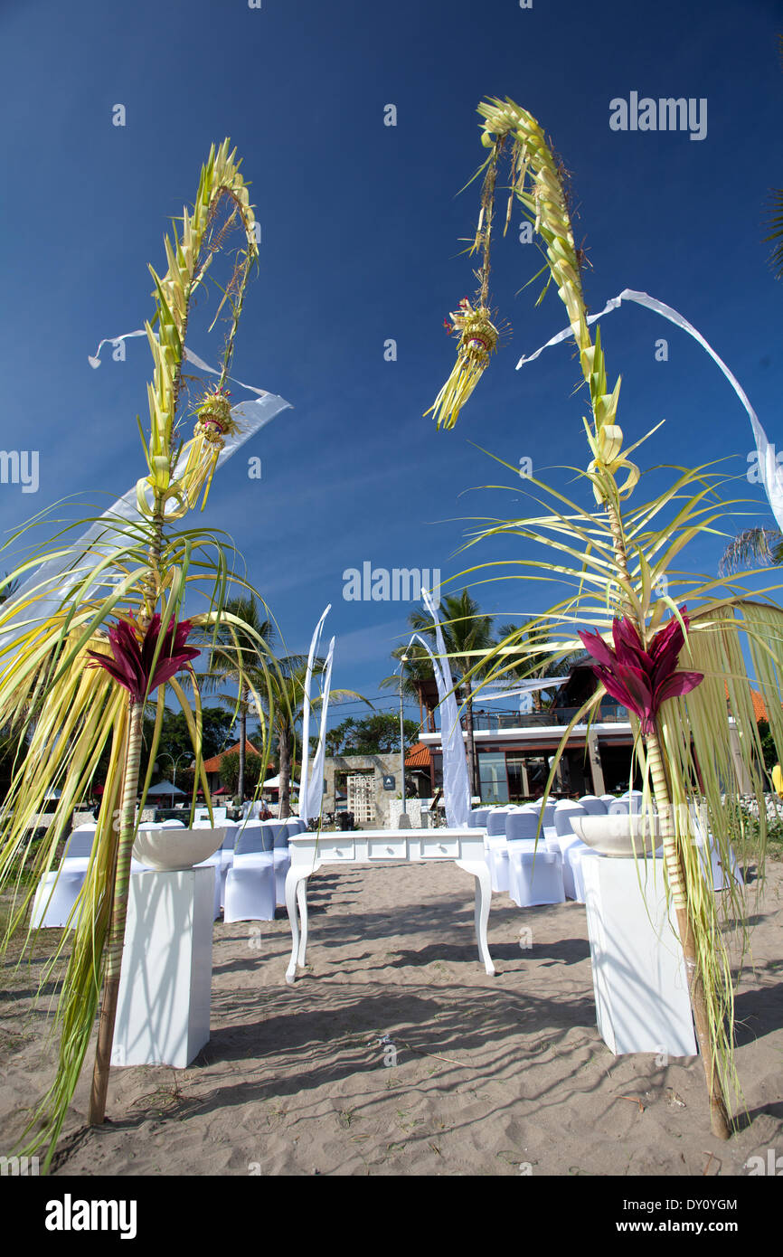 Everything is ready for a romantic wedding at a beach with in bali everything is ready for a romantic wedding at a beach with in bali in june 2012 the wedding location is beautified with penjor coconut leaves decoration junglespirit Gallery
