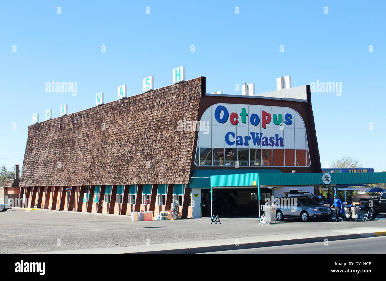 breaking bad tv location a1a carwash octopus car wash albuquerque stock photo royalty free. Black Bedroom Furniture Sets. Home Design Ideas