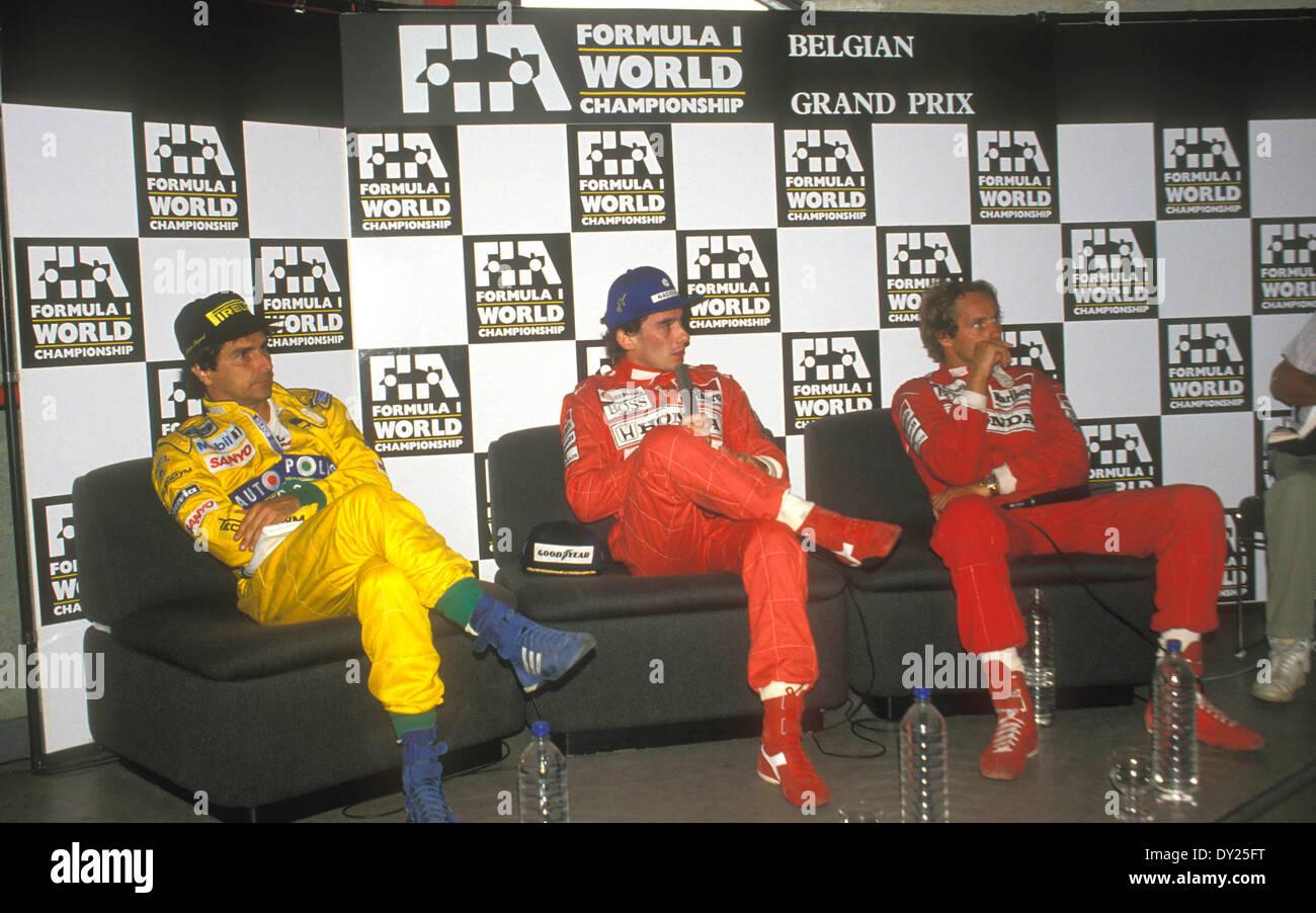 (L-R) Nelson Piquet (B...