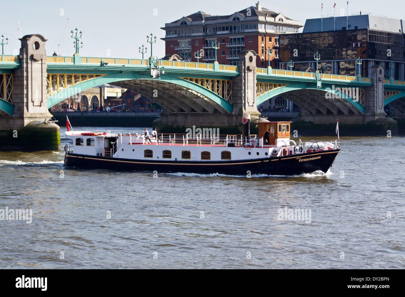 MV Edwardian River Boat On The Thames At Southwark