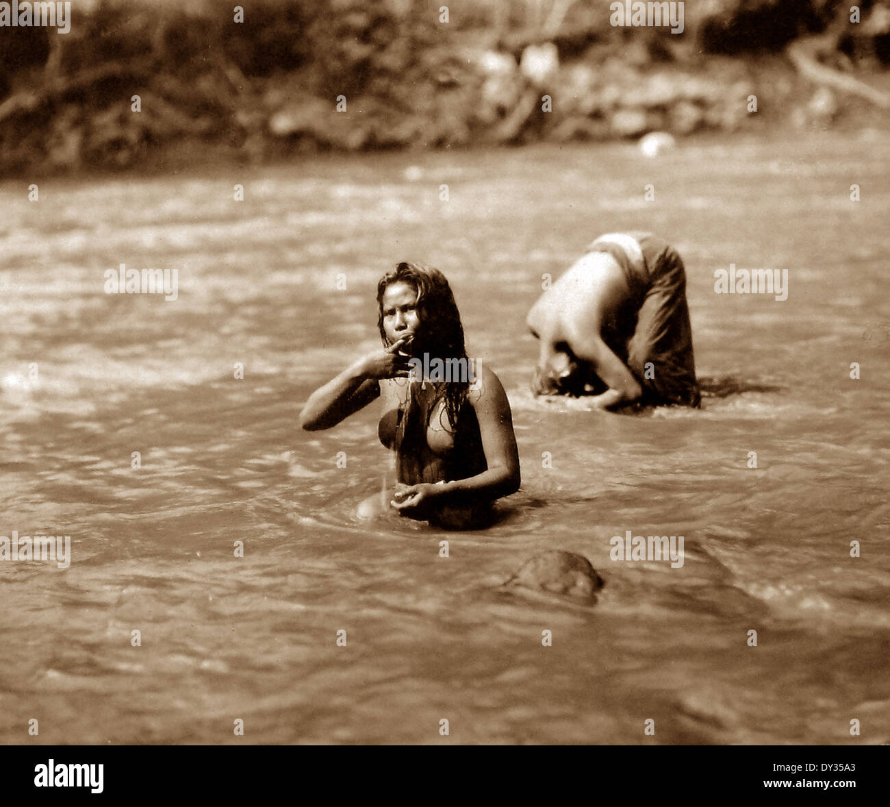 Bali women bathing in the 1920s stock photo royalty free for Bathing images