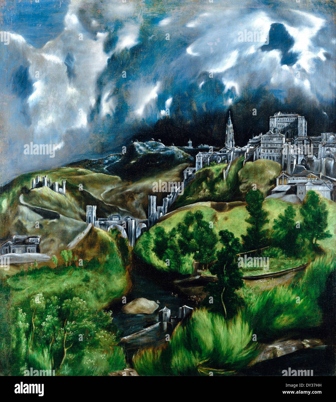 an assessment of the painting the view of toledo by el greco 10 paintings and artworks by el greco you should know marcelina morfin updated: 12 july 2018  the disrobing of christ is located in the sacristy of the cathedral in toledo, spain el greco moved to toledo in the mid to late 1570s,  view of toledo (c 1598-99.