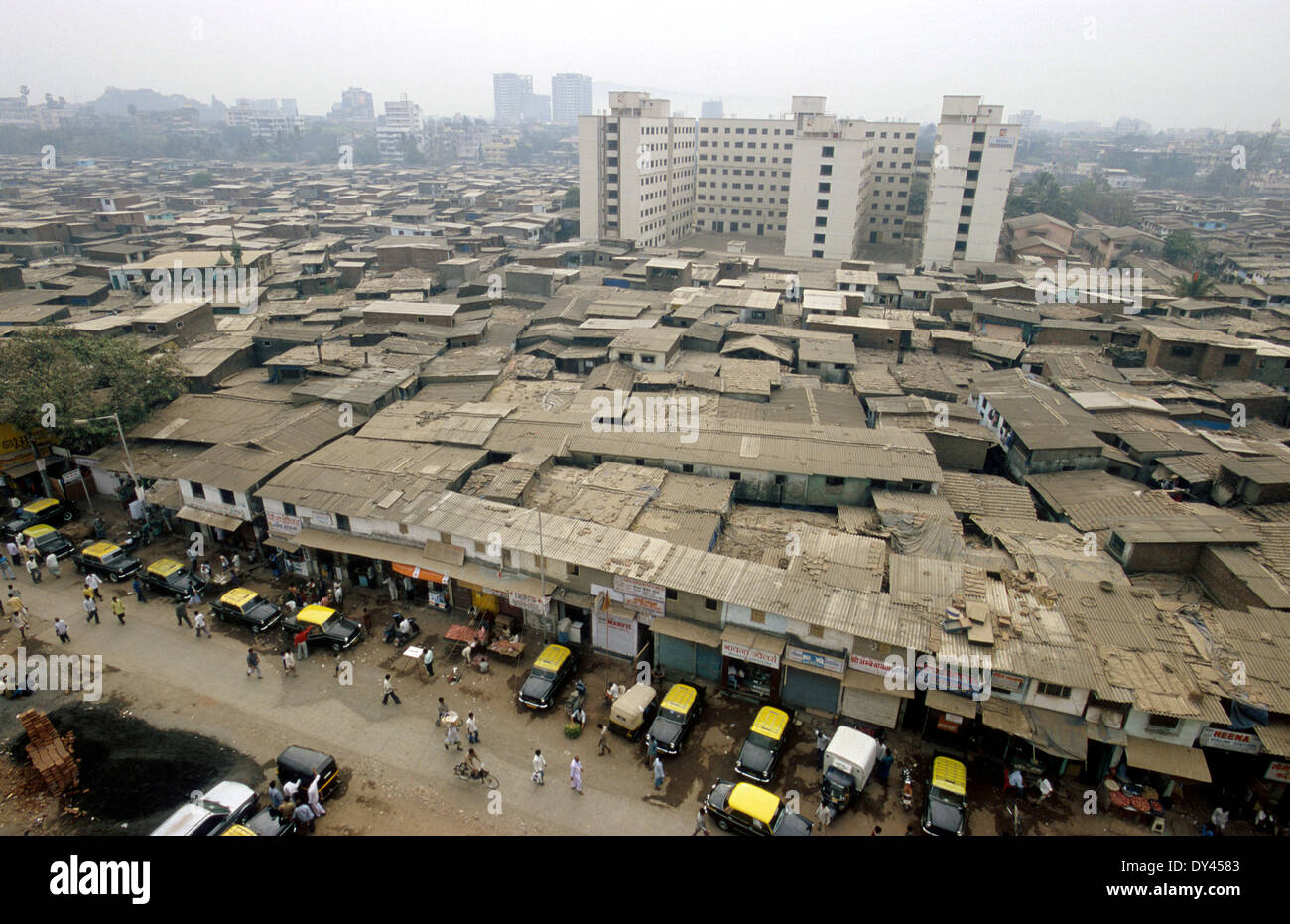 India Mumbai Slum Dharavi The Largest Slum In Asia