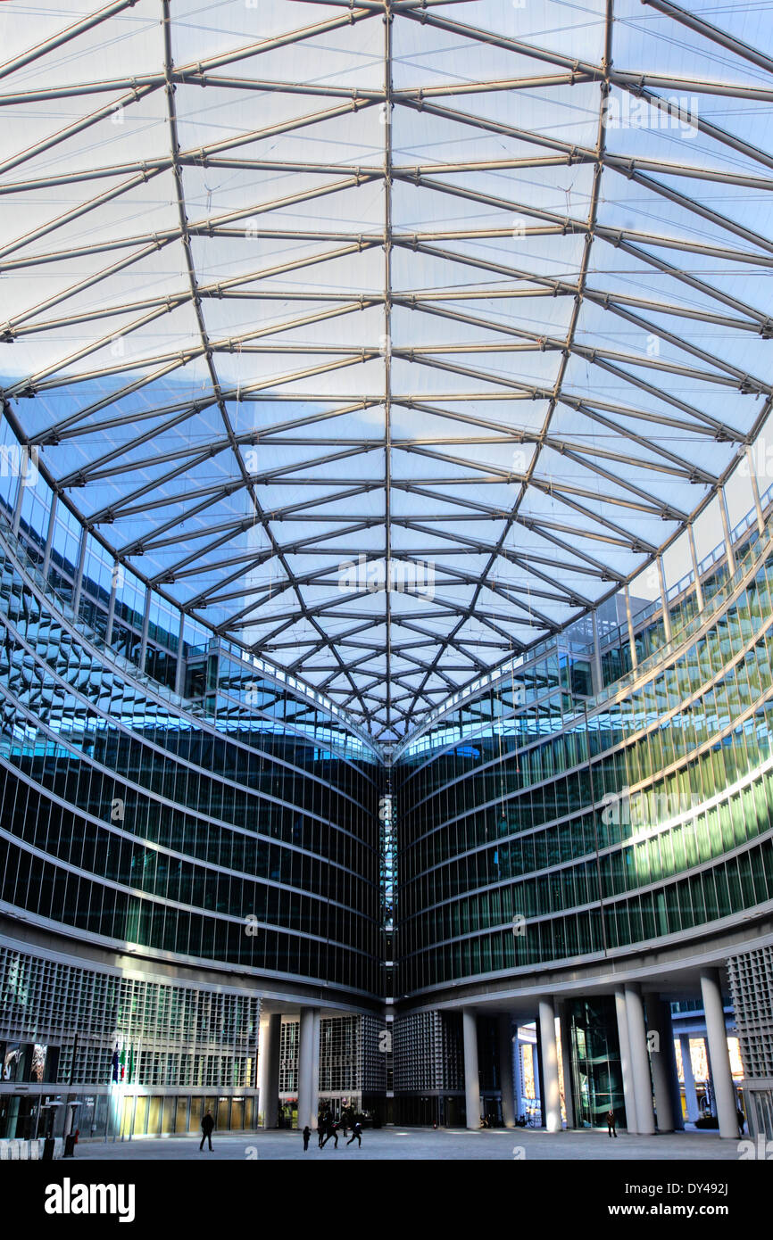 Modern Architecture In Italy the modern architecture of lombardy building in milan, italy stock