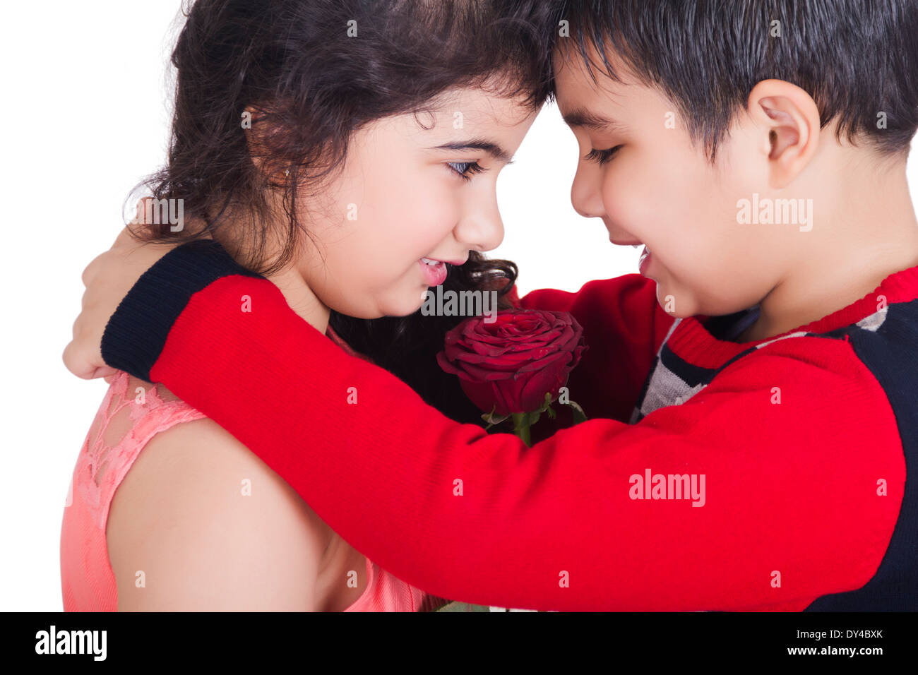 indian kids couple romance stock photo royalty free image