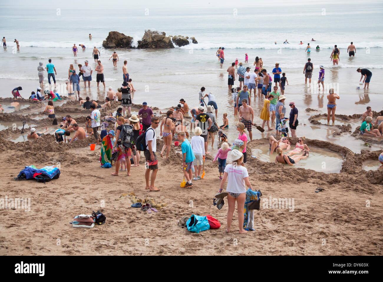People at Hot Water Beach  Hot Water Beach Waikato