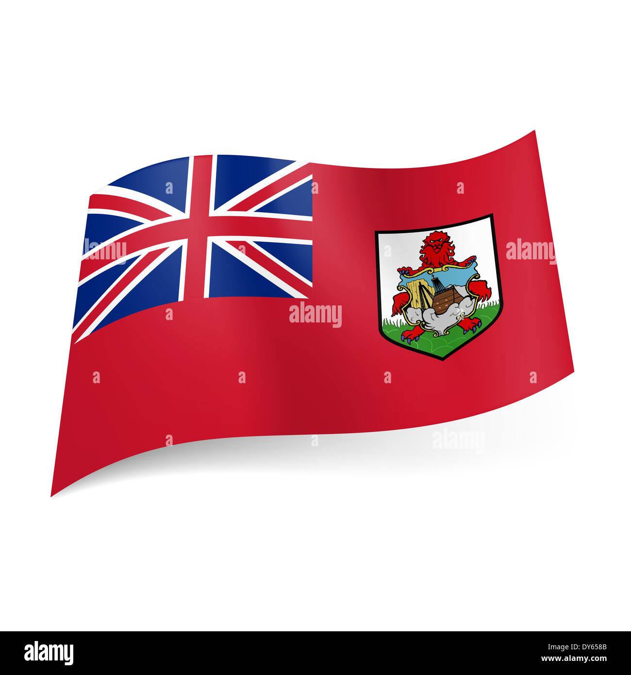 flag of overseas british territory bermuda national coat of