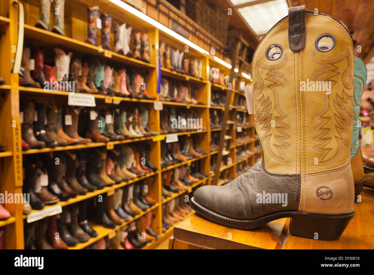 Western Store Cowboy Boots Stock Photos & Western Store Cowboy ...