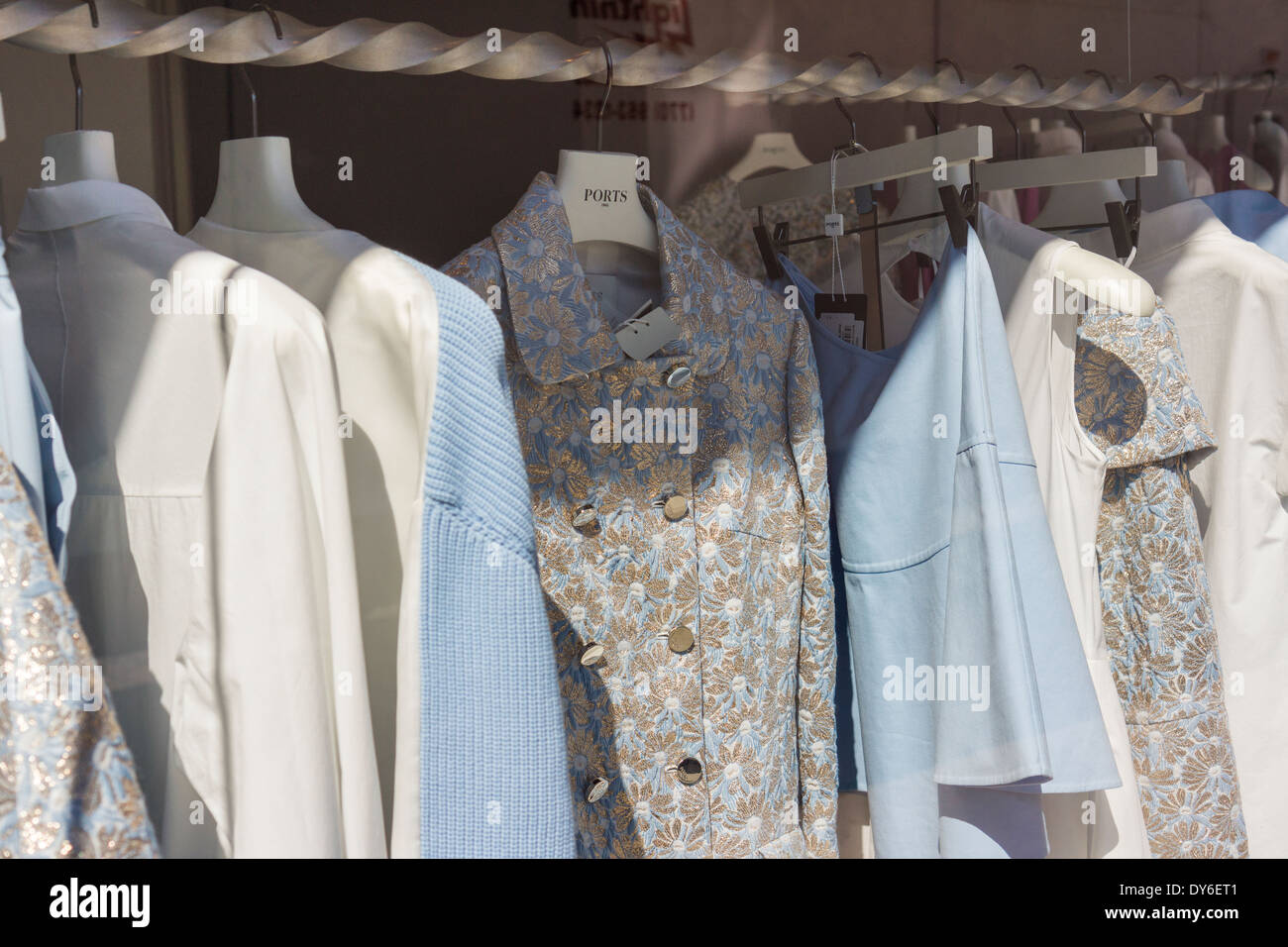 Clothing On Display In A Ports 1961 Store In The