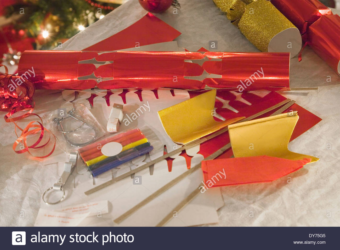 Do it yourself christmas cracker making kit stock photo royalty do it yourself christmas cracker making kit solutioingenieria Gallery