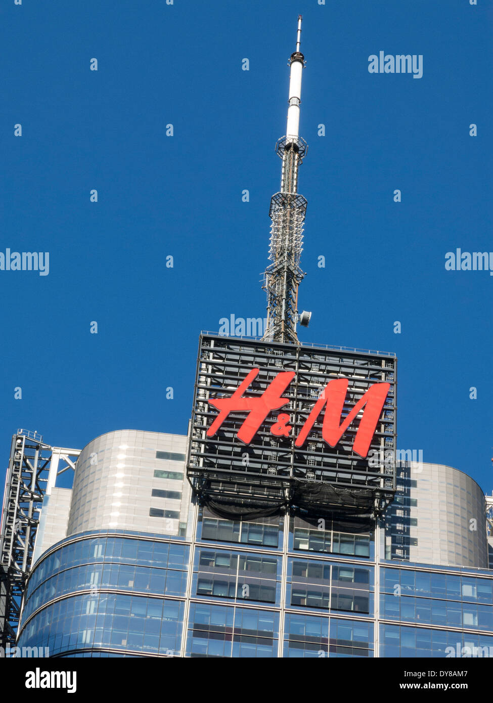 H&M Clothing Store Sign in Times Square, NYC, USA Stock ...