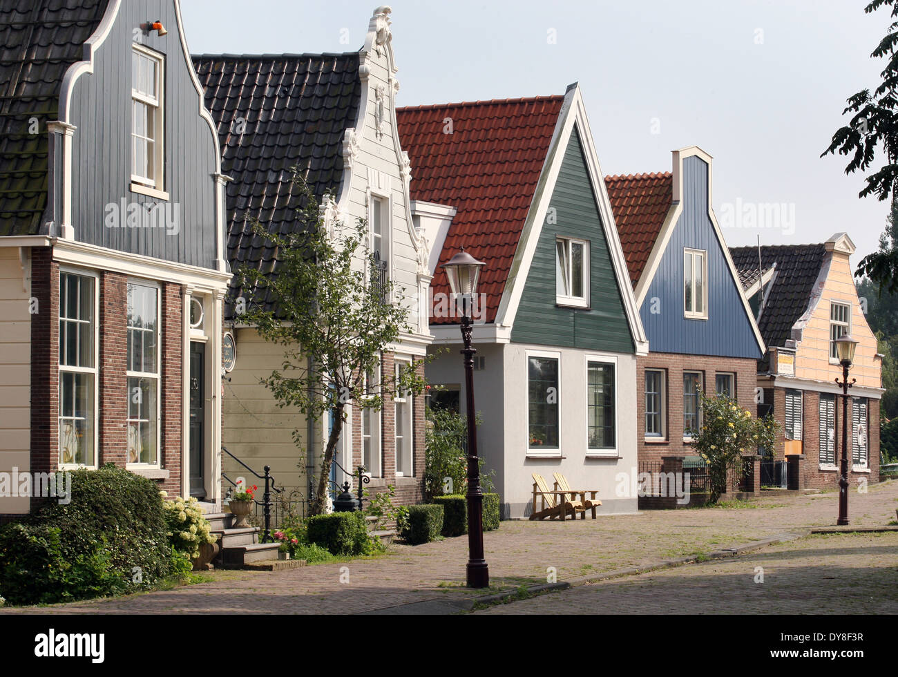 Traditional dutch houses in amsterdam north stock photo for Dutch house