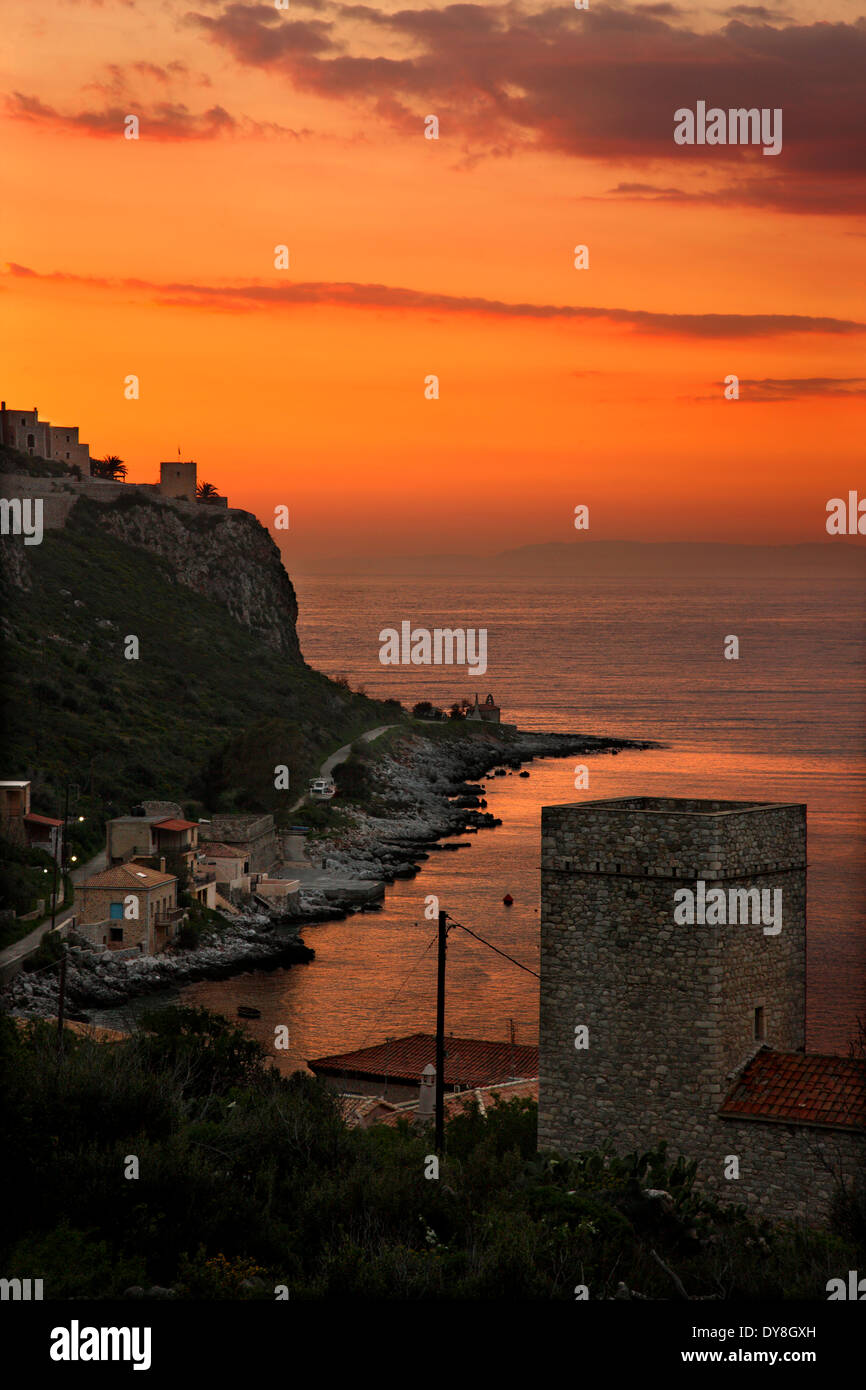 Sunset In Limeni, One Of The Most Beautiful Seaside Villages Of
