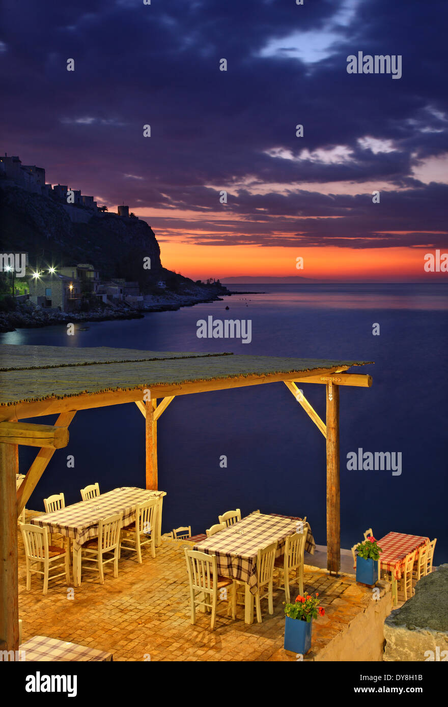 "Tavern (""takis"") In Limeni, One Of The Most Beautiful Seaside"