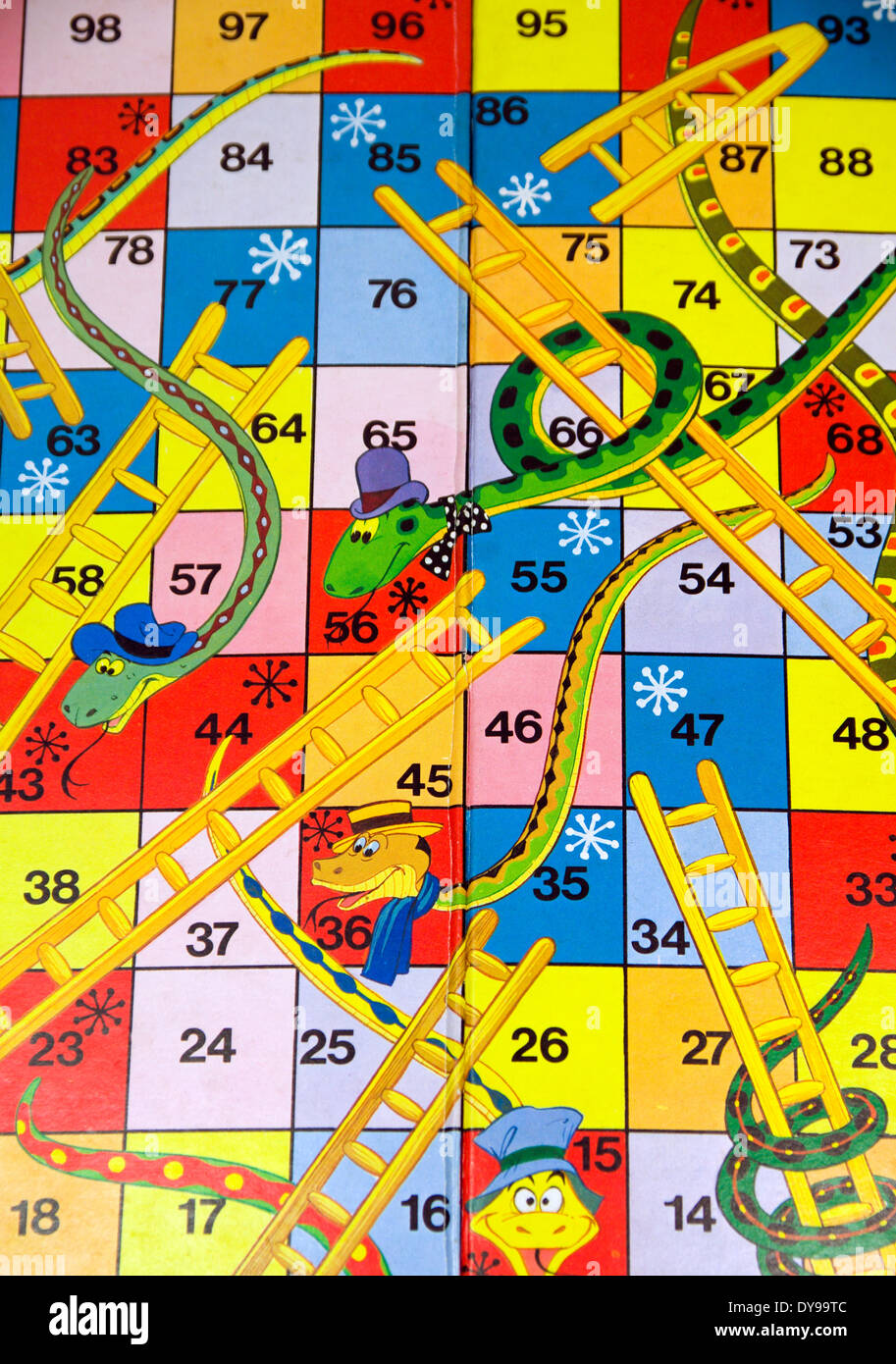 Snakes and Ladders board game Stock Photo, Royalty Free Image ...