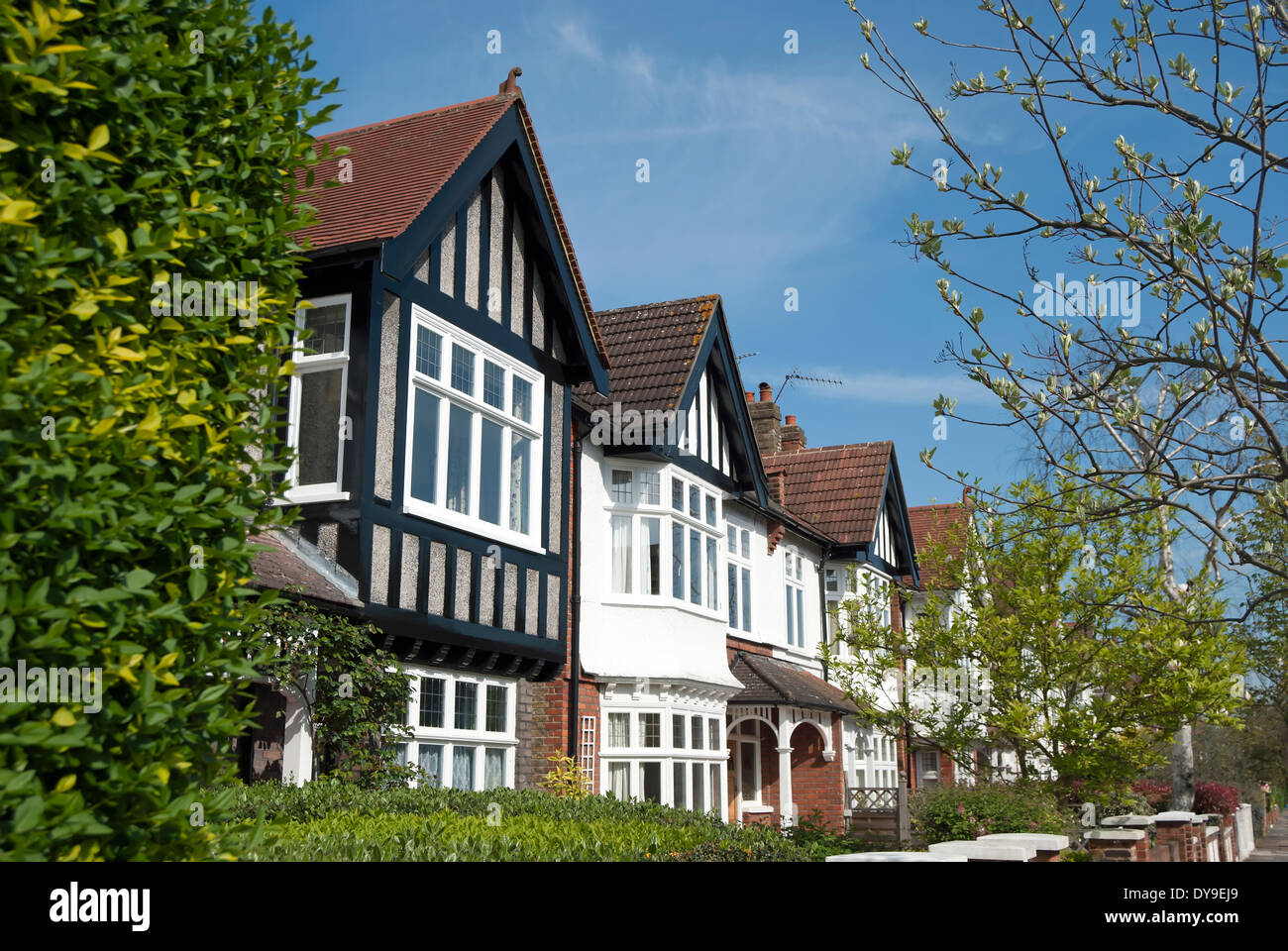 Houses With Bay Windows terraced houses with bay windows and mock tudor features in barnes