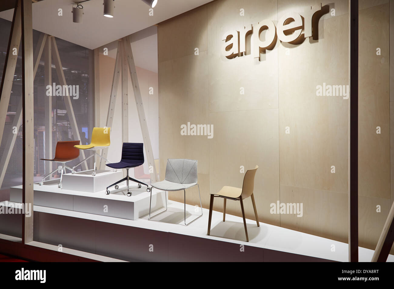 Arper stand during salone del mobile international for Stand salone del mobile