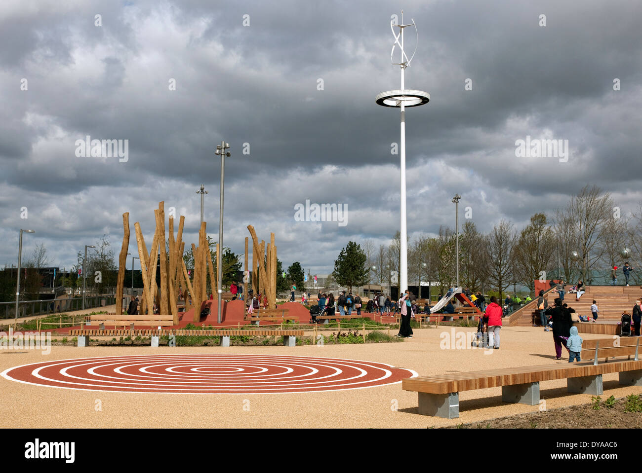 South Plaza Childrens Playground In Queen Elizabeth Olympic Park London