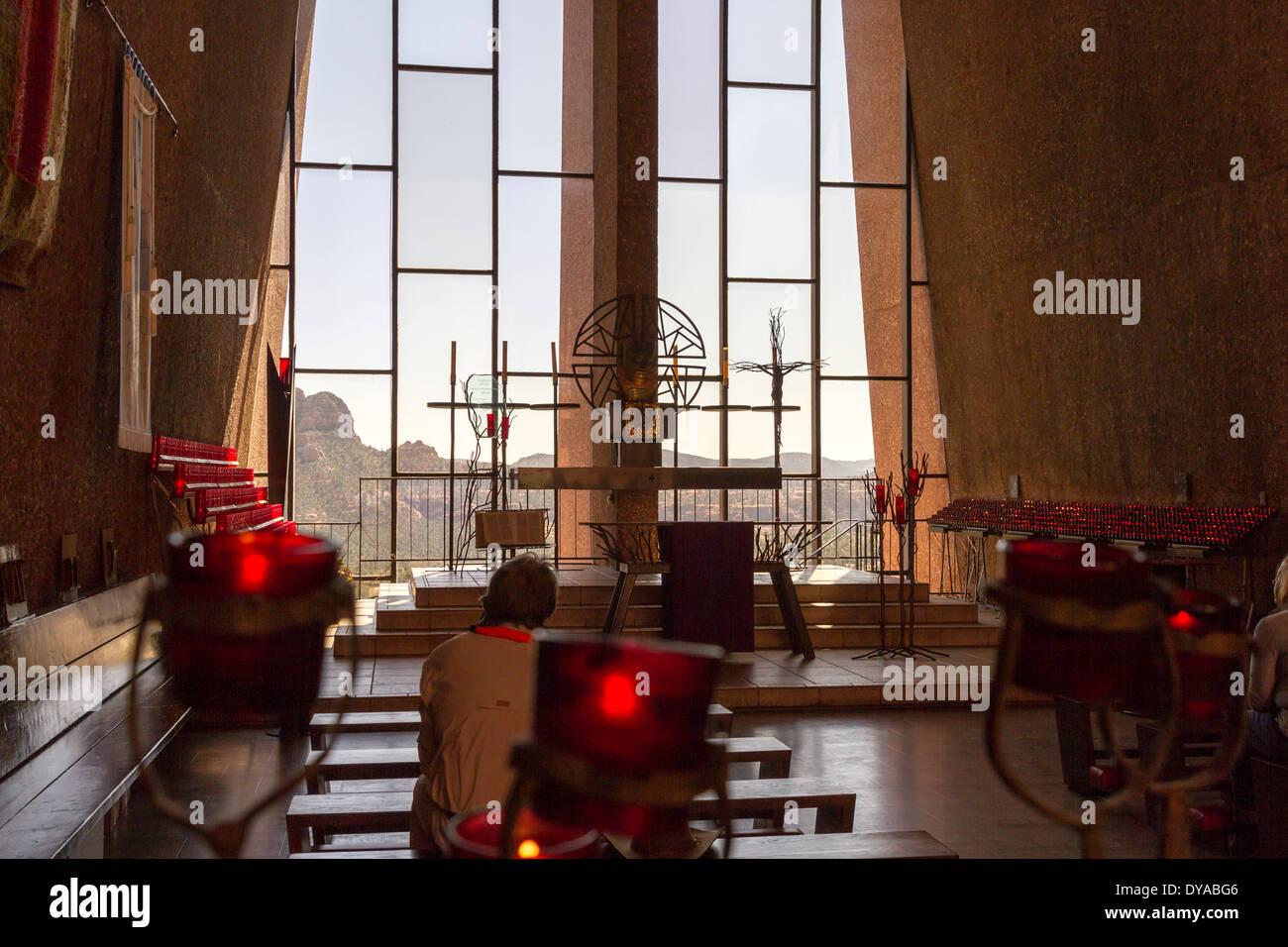 Interior, Chapel Of The Holy Cross, Sedona, Arizona, USA