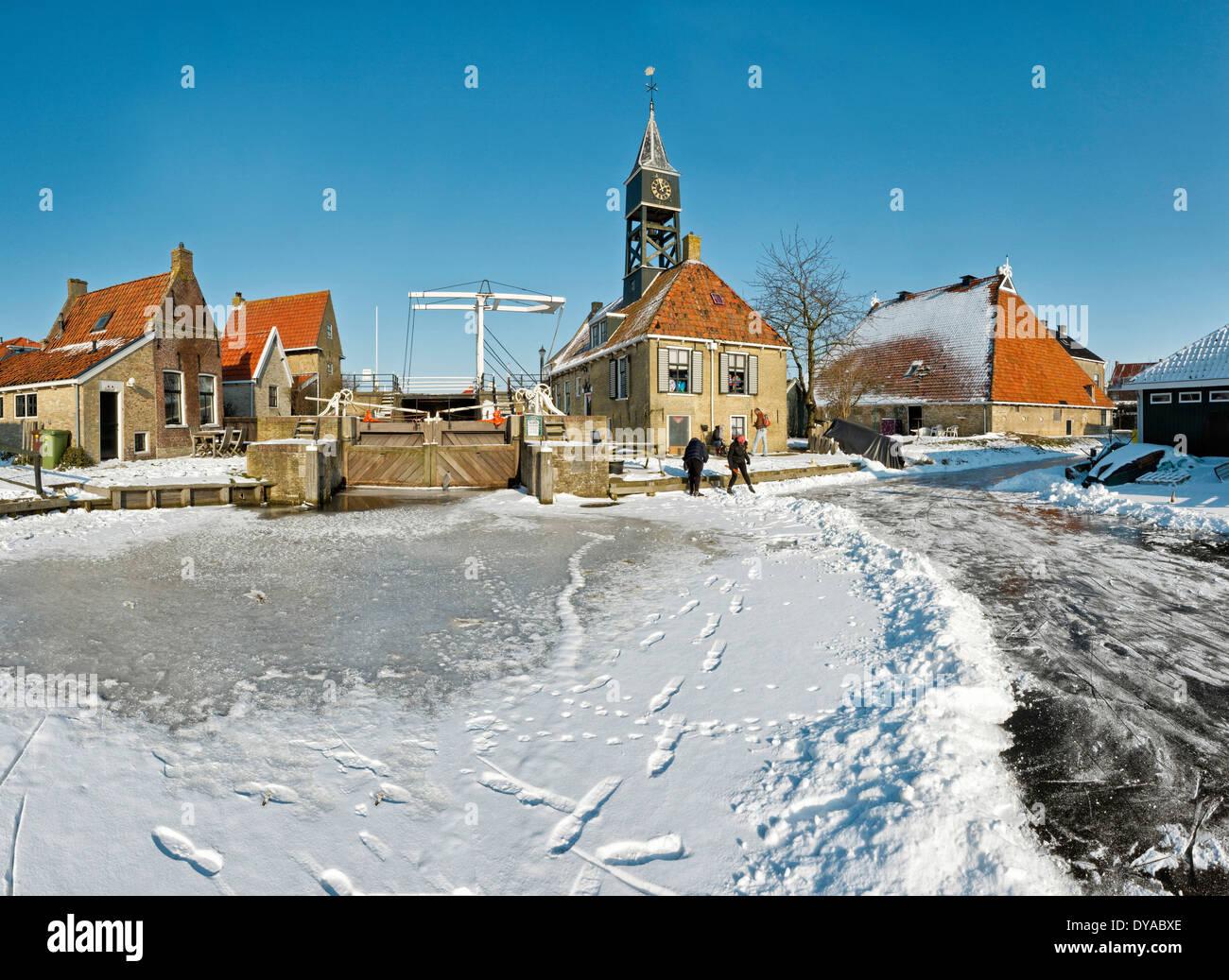 Netherlands, Holland, Europe, Hindeloopen, Friesland ...