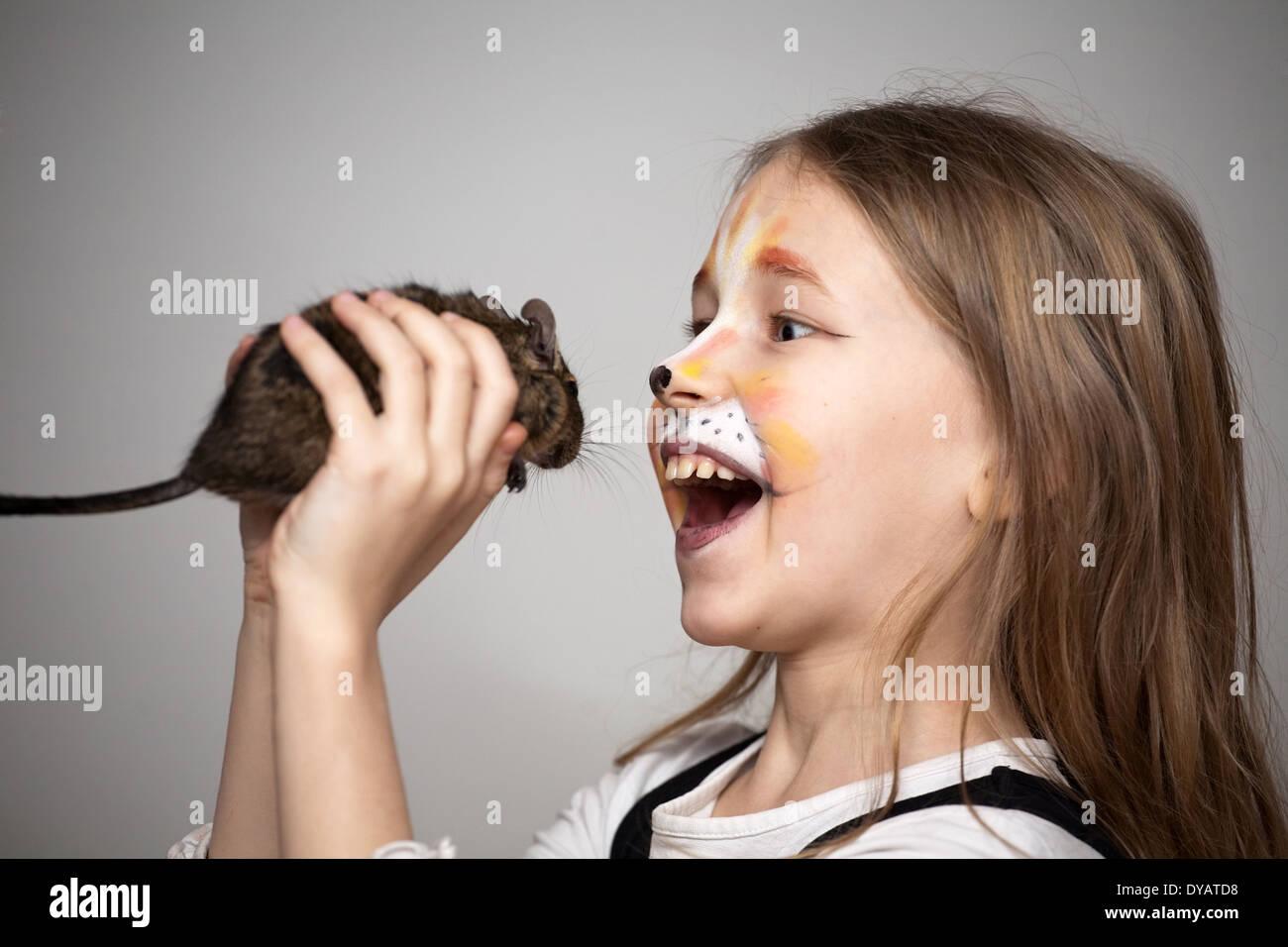 cat makeup little girl