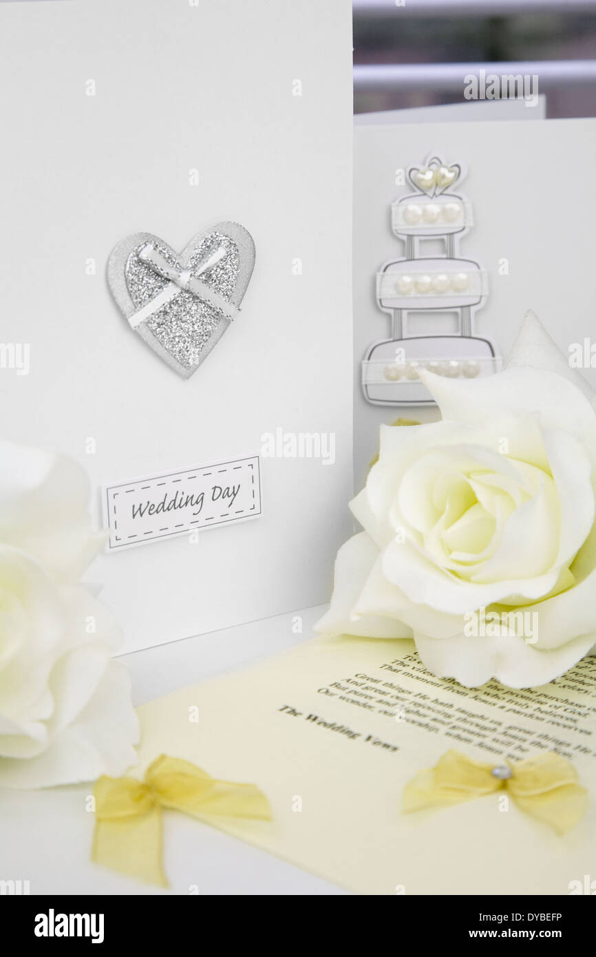Wedding Day Congratulation Cards And Ceremony Script Sheet