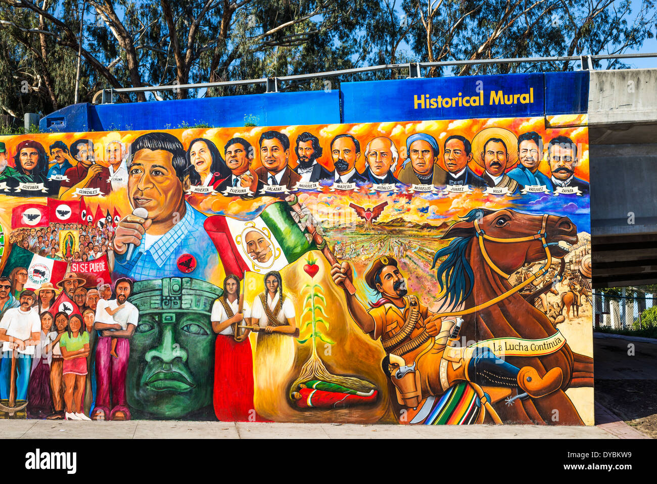 Historical mural at chicano park barrio logan san diego for Mural chicano