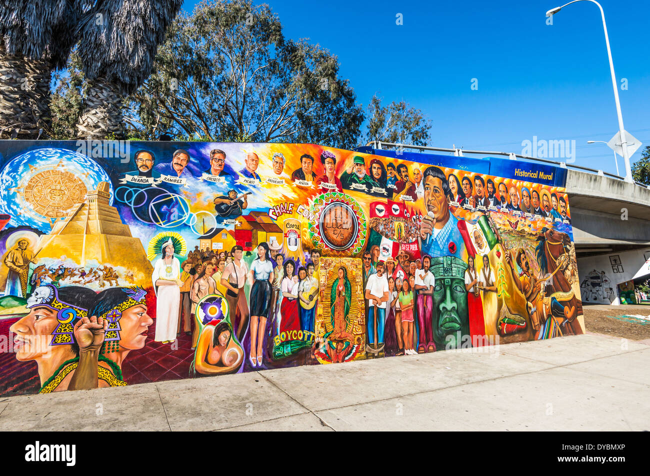 Historical mural at chicano park barrio logan san diego for California mural