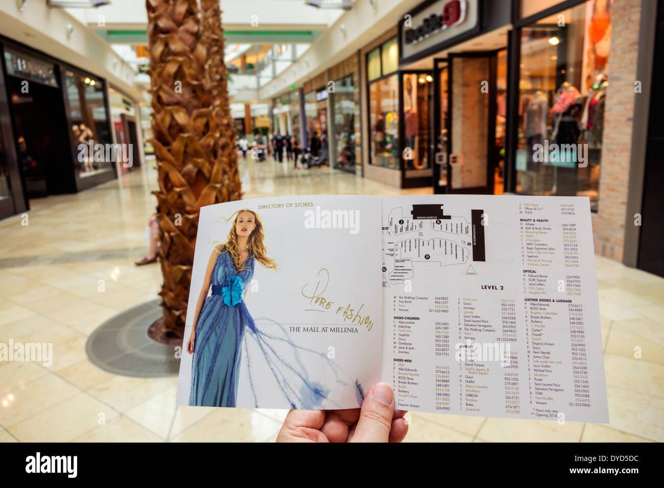orlando florida the mall at millenia shopping inside interior atrium storesbusinesses directory brochure information . the mall at millenia stock photos  the mall at millenia stock