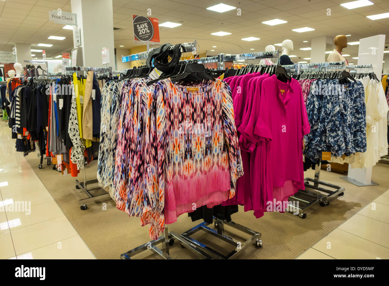 Department store clothes rack