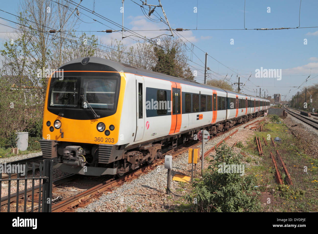 A first great western heathrow connect train passing through a first great western heathrow connect train passing through hanwell elthorne station london uk sciox Choice Image